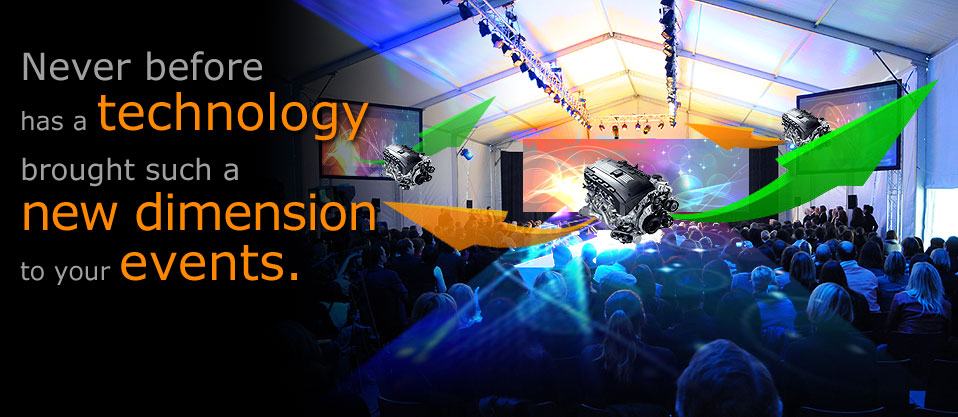 Never before has technology brought such a new dimension to your events.